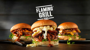 30% Off Mains at Flaming Grill Pubs