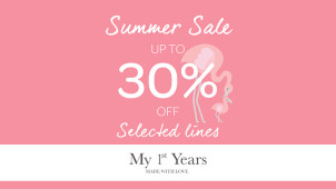 Find 30% Off Selected Lines in the Summer Sale at My 1st Years