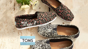 15% off First Orders with Newsletter Sign-Ups at TOMS