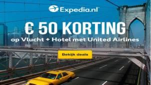 €50,- korting op vlucht + hotel met United Airlines