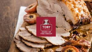 25% off Food when you spend £15 at Toby Carvery