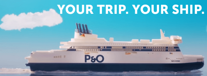 P&O Ferries Banner Groupon UK