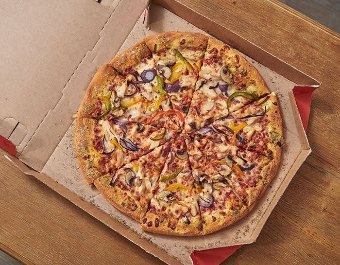 Pizza Hut veggie supreme