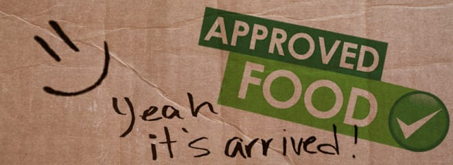 Approved Food banner