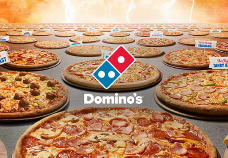 Domino's vouchers for mouth watering pizza