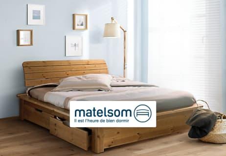 Profitez de 15€ de Remise à partir de 150€ d'Achat chez Matelsom