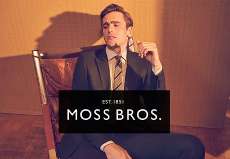 Save 15% Off Orders Over £120 at Moss Bros