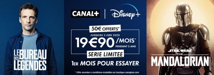 CANAL+ / Disney+ à 19,90€ par mois en édition limitée !