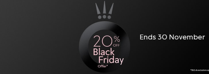 20% Discount on Orders this Black Friday at Pandora