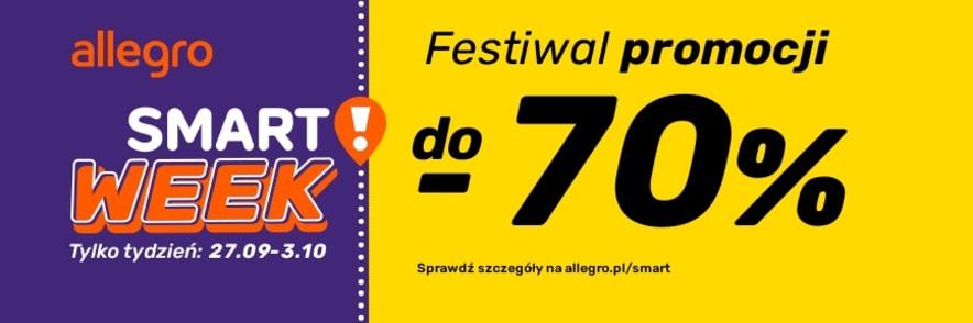 Do -70% i Darmowa Dostawa bez Limitu Podczas Smart Week w Allegro