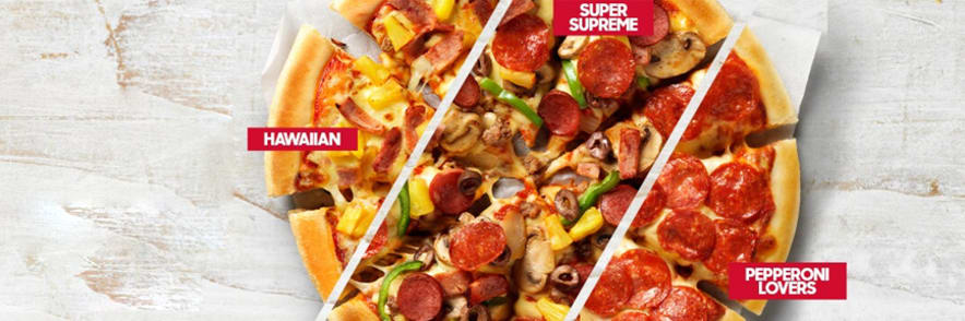 3 Large Pizzas + 3 Sides from $33.95 with this Pizza Hut Coupon Code